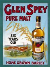 Glen Spey Malt Whiskey Metal Wall Sign (2 sizes)